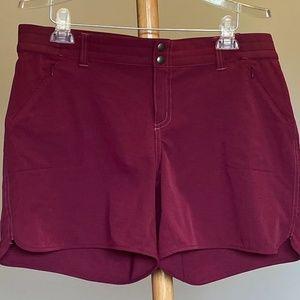 Kuhl Maroon Strattus Hiking Shorts Sz 14